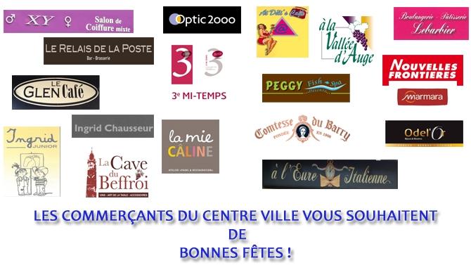 Les commer�ants du centre ville d�Evreux, partenaires de l�ALM Evreux Basket.