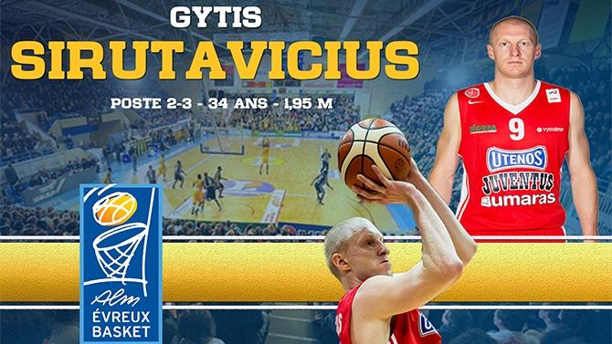 Gytis Sirutavičius arrive de Lituanie !