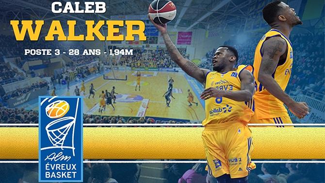 Caleb Walker reste à Evreux !