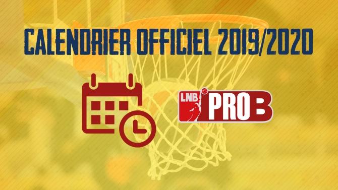 CALENDRIER PRO B 2019/2020