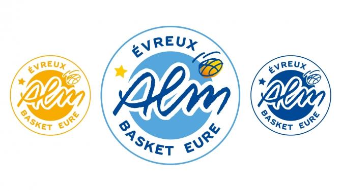 Nouveau Logo ALM EVREUX BASKET EURE