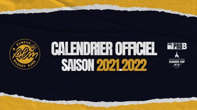 CALENDRIER PRO B 2021/2022