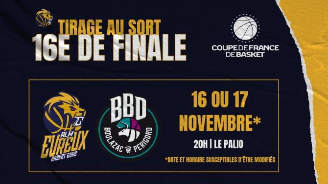 TIRAGE 16EME DE FINALE COUPE DE FRANCE